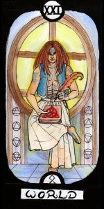 Trump 21 in the Revenant Tarot deck.
