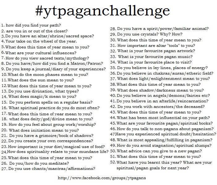 YT Pagan Challenge
